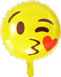 50 Units of EMOJI FACE FLYING BALLOON - Balloons & Balloon Holder