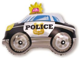 50 Units of POLICE CAR FLYING BALLOON - Balloons & Balloon Holder