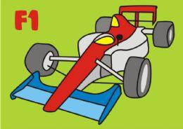 10 Units of Medium F1 Car Sand Painting Card - Arts & Crafts