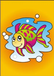 10 Units of Medium Fish Sand Painting Card - Arts & Crafts