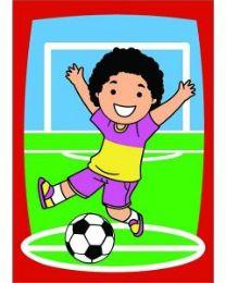 10 Units of Medium Soccer Kid Sand Painting Card - Arts & Crafts