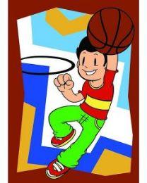 10 Units of Medium Basketball Kid Sand Painting Card - Arts & Crafts