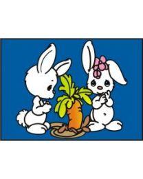 10 Units of Medium Cute Bunnies Sand Painting Card - Arts & Crafts