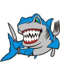 10 Units of Medium Hungry Shark Sand Painting Card - Arts & Crafts