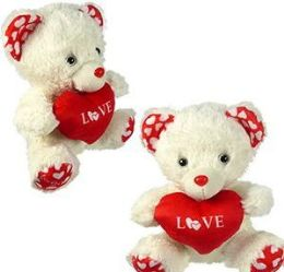 36 Units of Plush Bear With Heart - Plush Toys