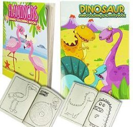 24 Units of Jumbo Unicorn And Flamingo Coloring Books - Coloring & Activity Books