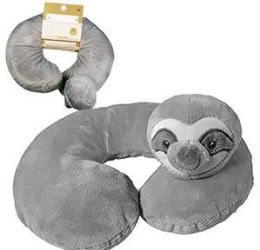 12 Units of Sloth Kids Neck Pillows - Pillows