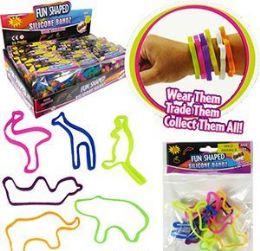 36 Units of 6 Piece Fun Shaped Silicone Bandz Sets - Bracelets
