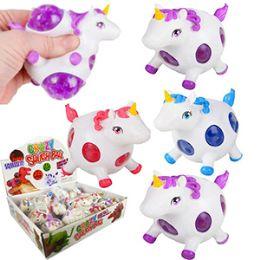 48 Units of Squishy Gel Bead Unicorn Stress Balls - Slime & Squishees