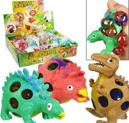 72 Units of Animal World Dinosaur Stress Balls - Slime & Squishees