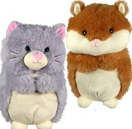 6 Units of Plush Chubby Hamsters and Cats - Plush Toys