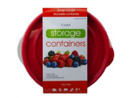 18 Units of 2 Pack Plastic Round Food Container - Food Storage Containers
