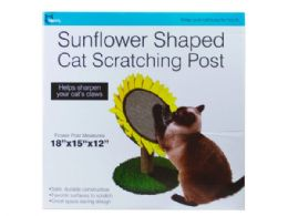 3 Units of Sunflower Shaped Cat Scratching Post - Pet Accessories