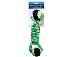 9 Units of Double Tennis Ball Knotted Dog Toy - Pet Toys