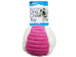 36 Units of Plush Ball Dog Chew Toy - Pet Toys