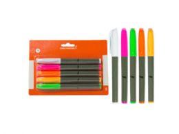 72 Units of 5-Piece Chalk Marker Set, White/Pink/Orange/Yellow/Green - Markers
