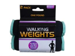 18 Units of 2 Pack 1 Pound Walking Weights - Fitness and Athletics