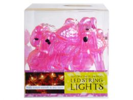 12 Units of Decorative Flamingo String Lights - Lightbulbs