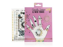 72 Units of Metallic Tattoos and Rings - Tattoos and Stickers