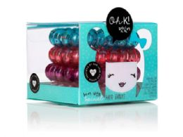 108 Units of Oh K! Spiral Hair Bands - Hair Accessories