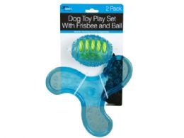 18 Units of 2 Pack Dog Toy Play Set With Frisbee And Ball - Pet Toys