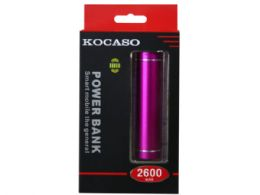 24 Units of 2600mah Kocaso Power Bank In Pink - Chargers & Adapters