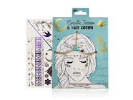 72 Units of Metallic Tattoos and Hair Crown - Tattoos and Stickers