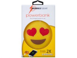12 Units of 4000 Mah Heart Eyes Emoticon Powerbank With Charging Cable - Chargers & Adapters