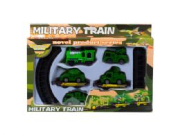12 Units of Battery Operated Military Train with Rails - Cars, Planes, Trains & Bikes