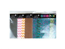 144 Units of 6PC 12x12 Paper Pack- Assorted Prints - Scrapbook Supplies