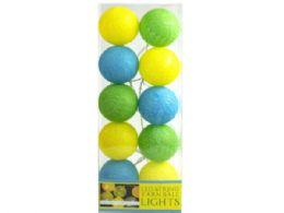 18 Units of Multi-Colored Yarn Ball String Lights - Lightbulbs