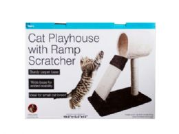3 Units of Cat Playhouse with Ramp Scratcher - Pet Accessories