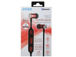 12 Units of iPop Embrace Red Bluetooth Earphones with Case - Headphones and Earbuds