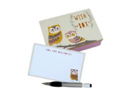 48 Units of Owl Keepsake Box with Pen - Store