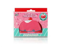 72 Units of Cupcake Shower Cap - Shower Accessories