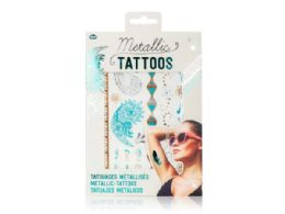 108 Units of Metallic Tattoos in Turquoise And Silver - Tattoos and Stickers