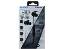 6 Units of iPop Metaux Grey Sport Bluetooth Earphones with Case - Headphones and Earbuds