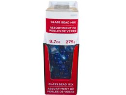 72 Units of 9.7oz Assorted Light and Dark Blue Glass Bead Mix - Craft Beads