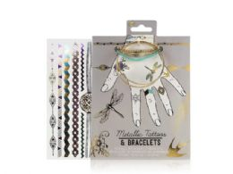 72 Units of Metallic Tattoos and Bracelet - Tattoos and Stickers