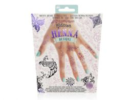 108 Units of Glitter Henna in Pink and Purple - Girls Toys