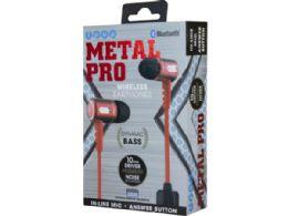 6 Units of iPop Metal Pro Red Bluetooth Earphones with Case - Headphones and Earbuds
