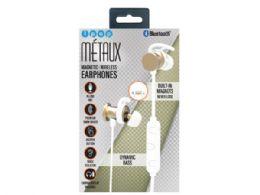 6 Units of iPop Metaux Gold Sport Bluetooth Earphones with Case - Headphones and Earbuds