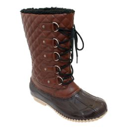 12 Units of Womens Duck Boot In Brown - Women's Boots