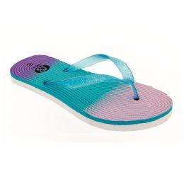 72 Units of Women's Glitter Flip Flops - Women's Flip Flops