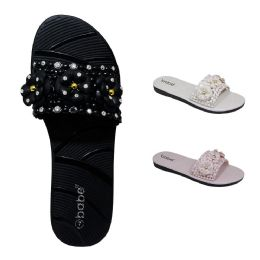 30 Units of Women's Flowers Slide - Women's Sandals