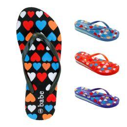40 Units of Women's Heeled Flip Flops - Women's Flip Flops