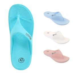48 Units of Women's Pacific Dreams Shower Flip Flops - Women's Flip Flops
