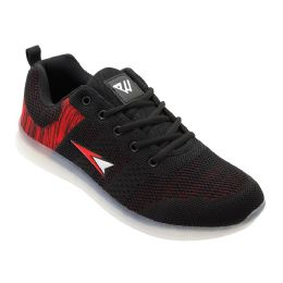 12 Units of Mens Casual Athletic Sneakers In Black - Men's Sneakers