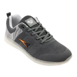 12 Units of Mens Casual Athletic Sneakers In Grey - Men's Sneakers