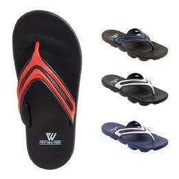 48 Units of Mens Sport Sandals Assorted Colors - Men's Flip Flops and Sandals